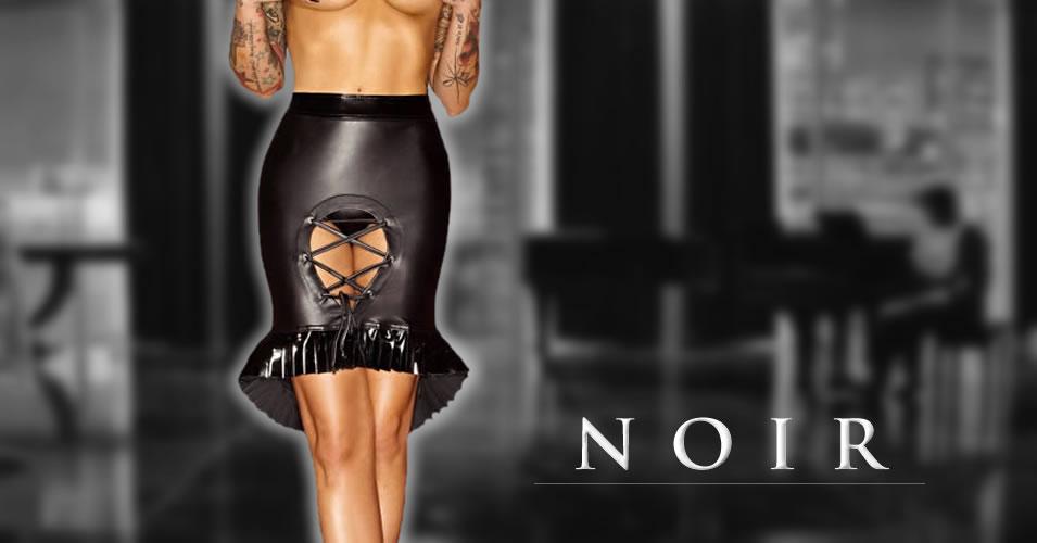 Noir Exclusive Nederdel med Snører